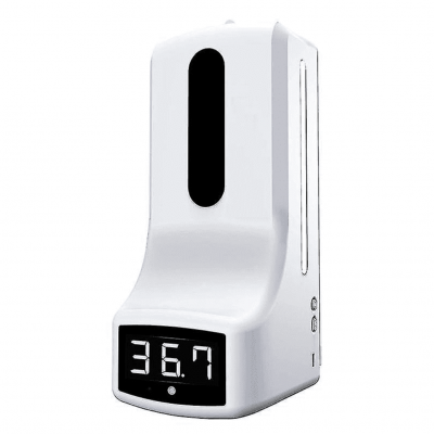 Clinical Thermometer & Disinfectant Dispenser 2 in 1 – Fever Measure & Hand disinfection in one.