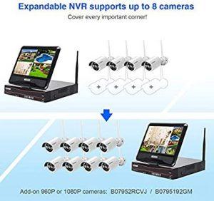Security Camera System, Home Business CCTV 8CH, WK-05 8CH 2MP KIT + 4 Kameras
