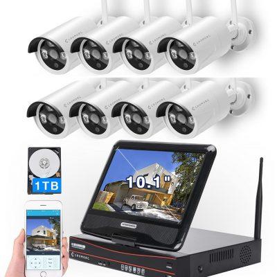 Security Camera System, Home Business CCTV 8CH, WK-05 8CH 2MP KIT + 8 Kameras